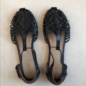 Seychelles t-strap sandals - black
